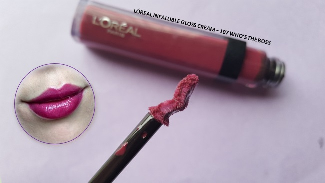 LÓreal Infallible Lipgloss - By Megan Kelly