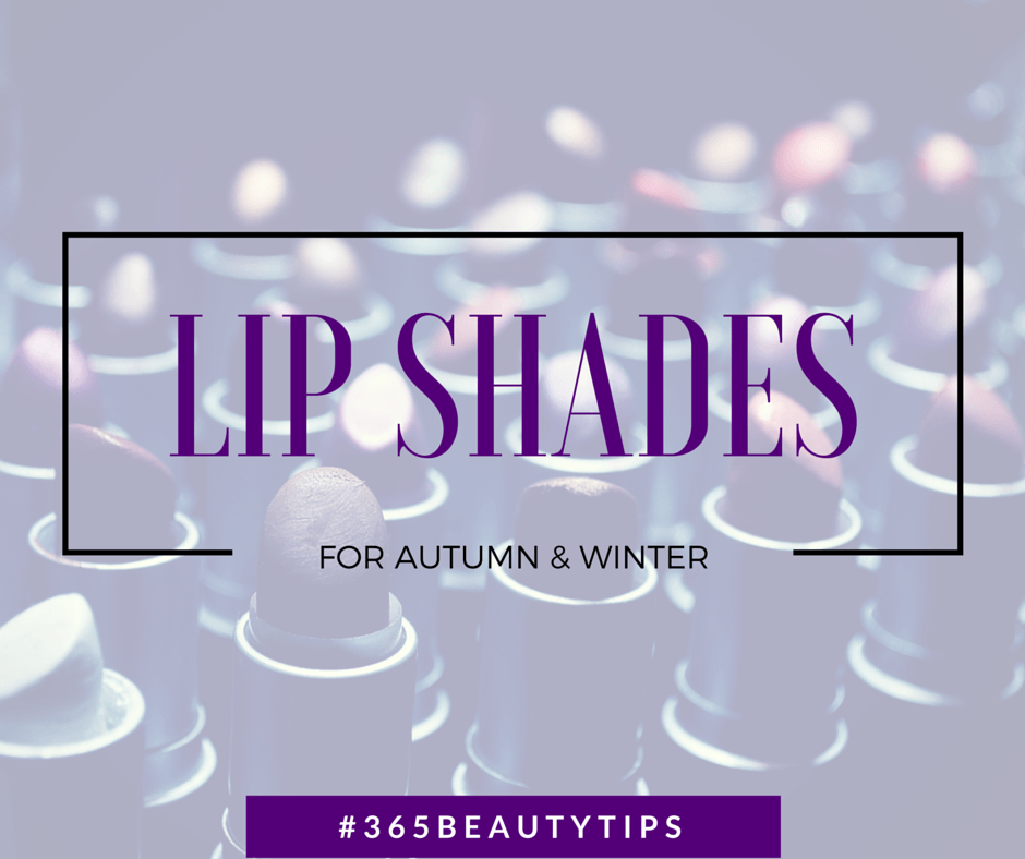 winter lip shades - By Megan Kelly