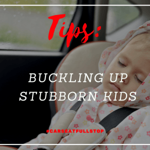 #CarseatFullstop even when your kid doesn't like it!