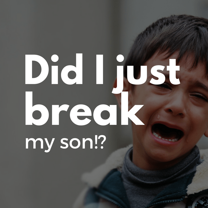 Did I just break my son? - By Megan Kelly