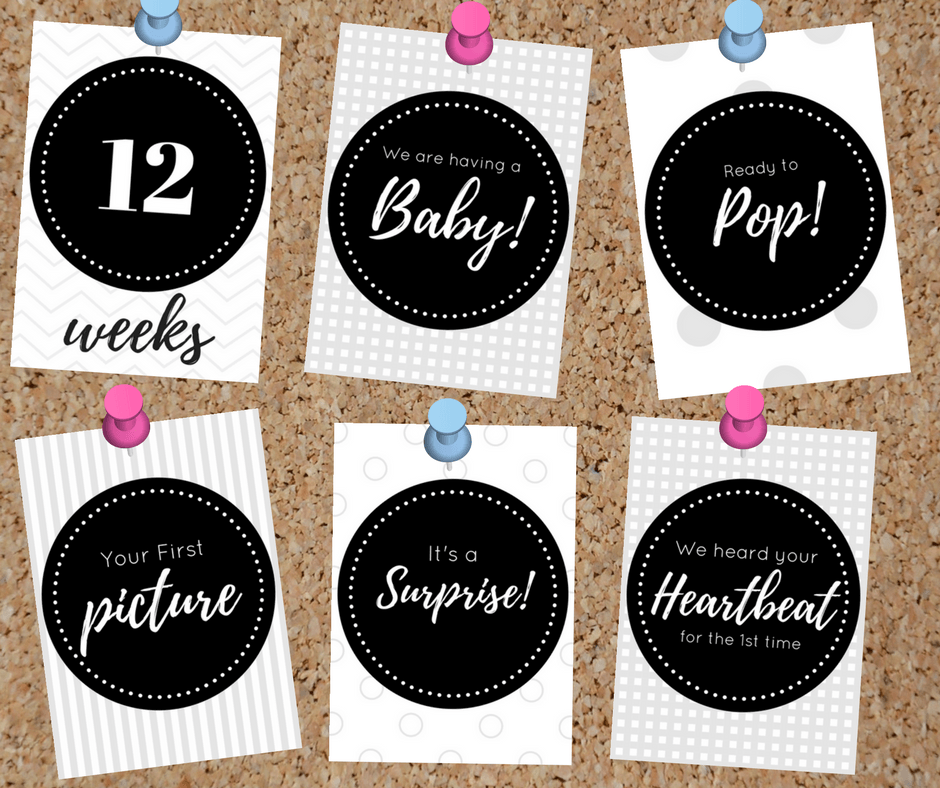 Free Pregnancy Milestone Cards - By Megan Kelly