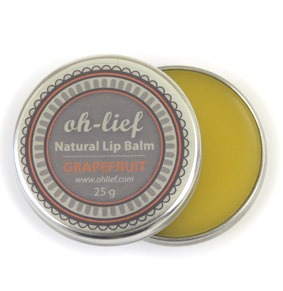 Oh Lief Natural Grapefruit lip balm - b