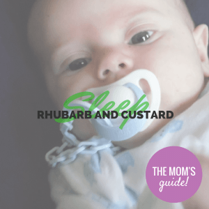 Sleep Easy with Rhubarb and Custard