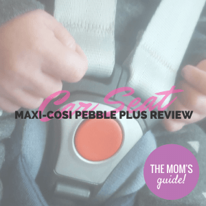 Buckle up with Maxi-Cosi's Pebble Plus