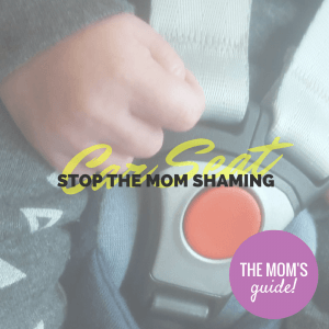 Can we stop mommy shaming car seats?